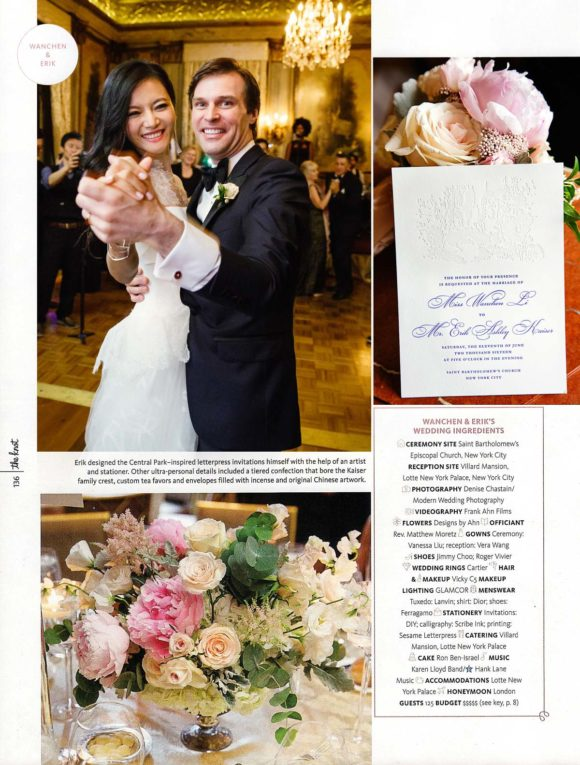 Knot Magazine Feature Lotte New York Palace Hotel