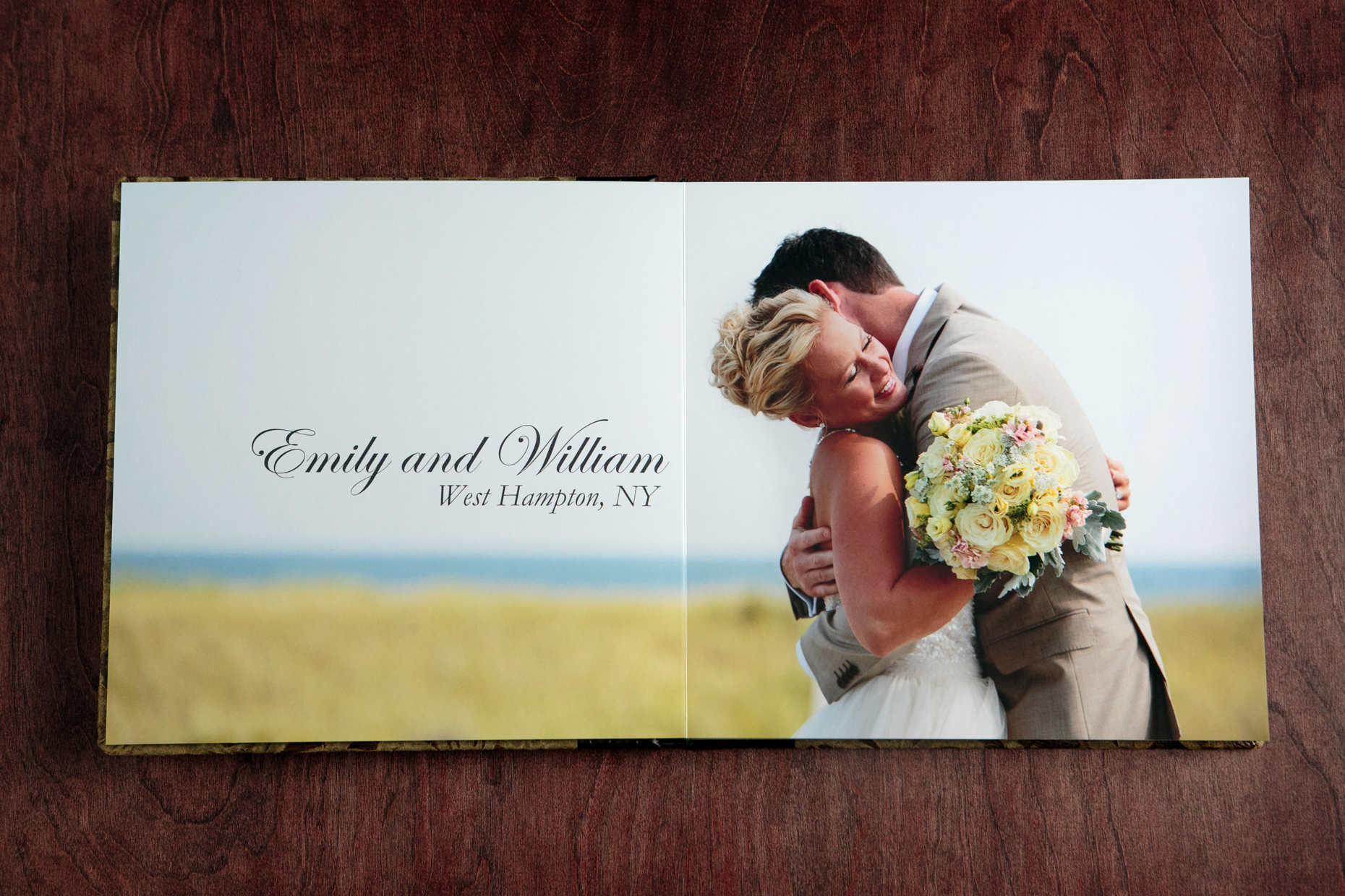 Modern Wedding Photography 12 X 12 Fine Art Coffee Table Album Opens Up To  A Stunning 24 X 12 Inch Spread.