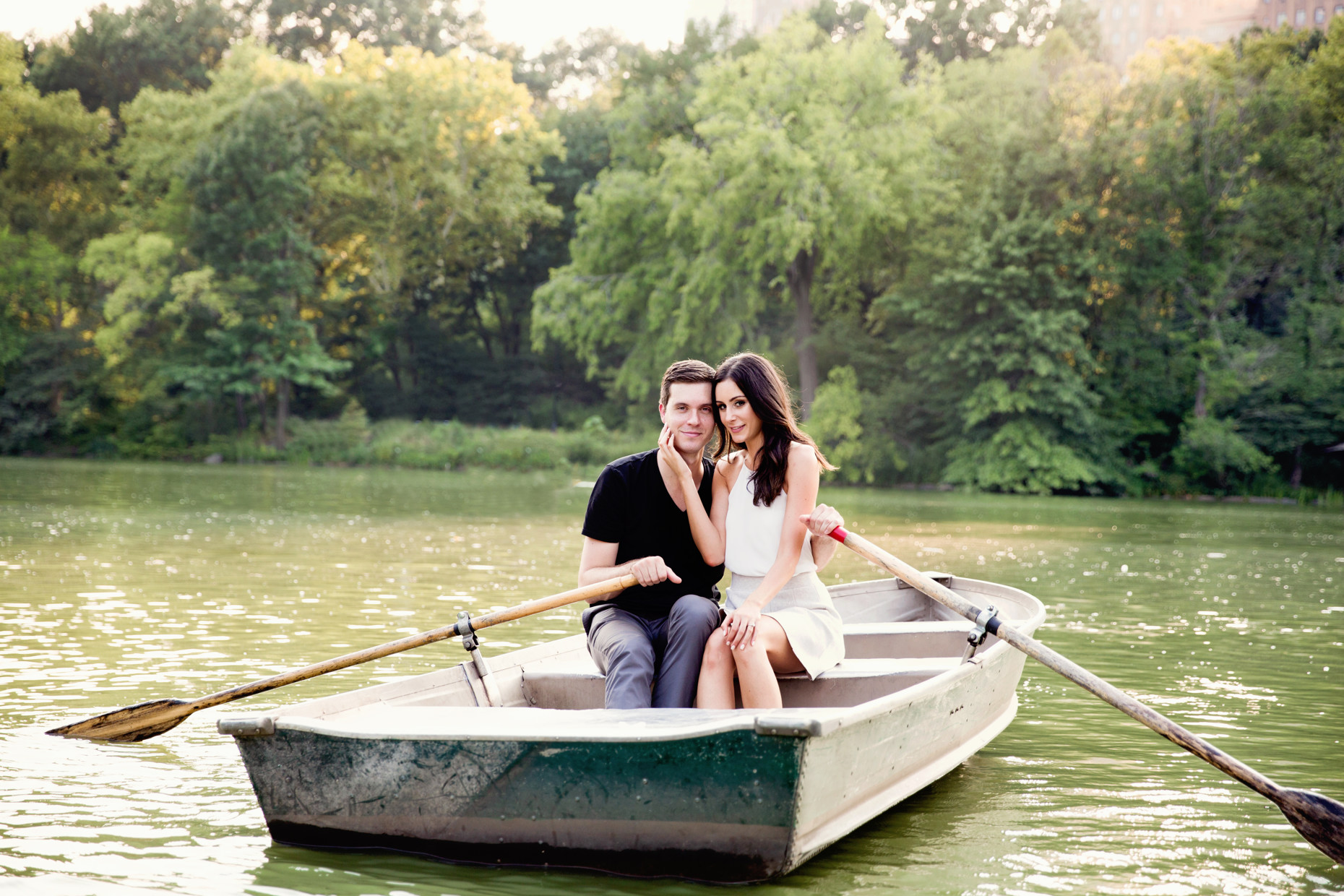 Central Park Engagement Session Loeb Boathouse