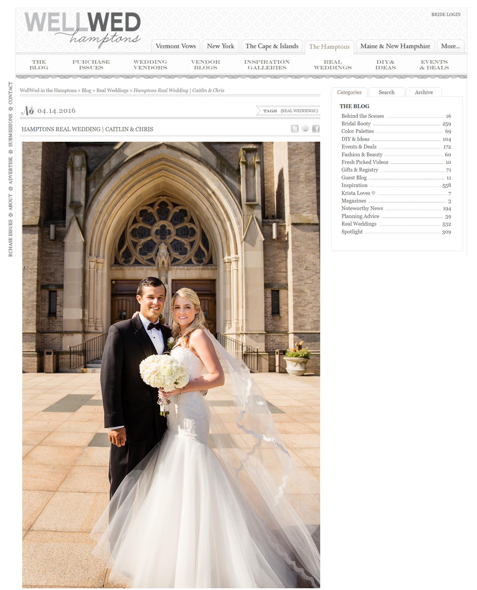 WellWed Hampton's Real Wedding Caitlin & Chris