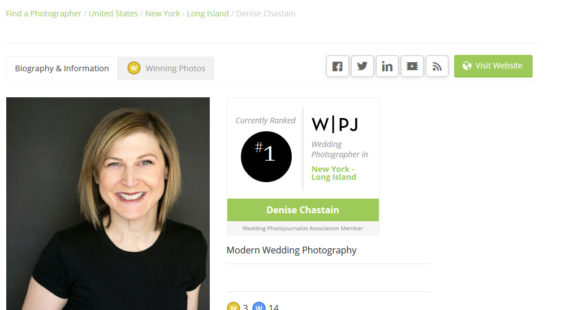 Long Island Wedding Photojournalist Ranked Number One