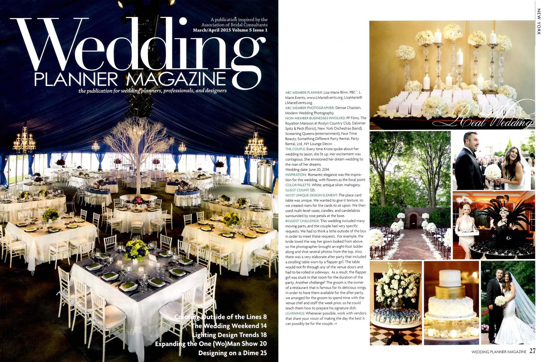 Wedding Planner Magazine The Royalton Mansion Featured Modern