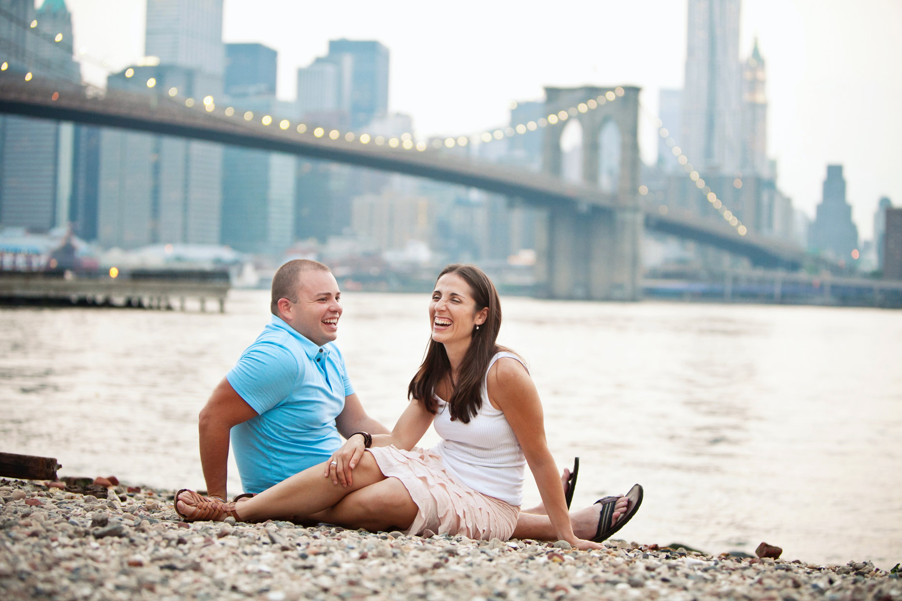 Brooklyn Bridge Park Engagement Shoot-Dina and Andy