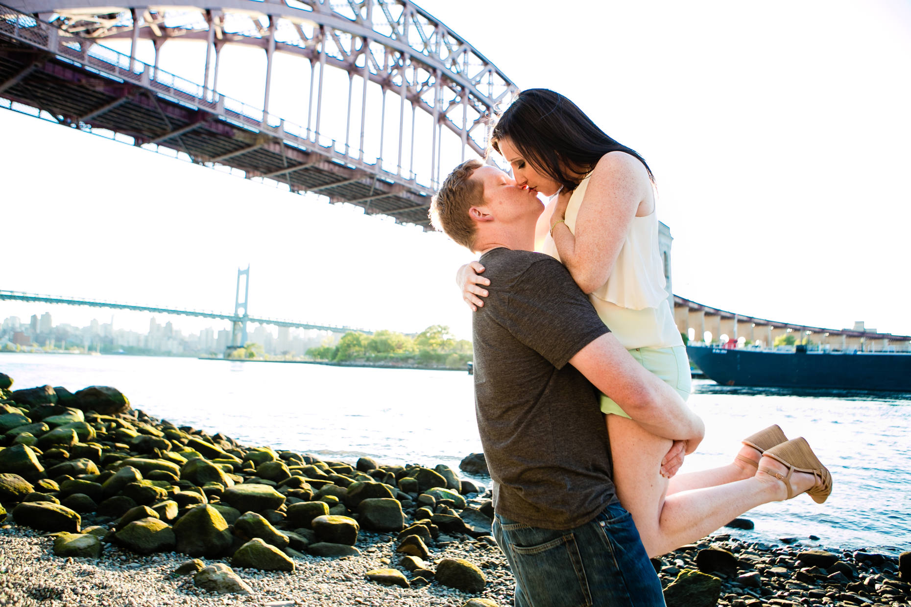 Queens New York City Engagement Shoot-Carolyn and Tom