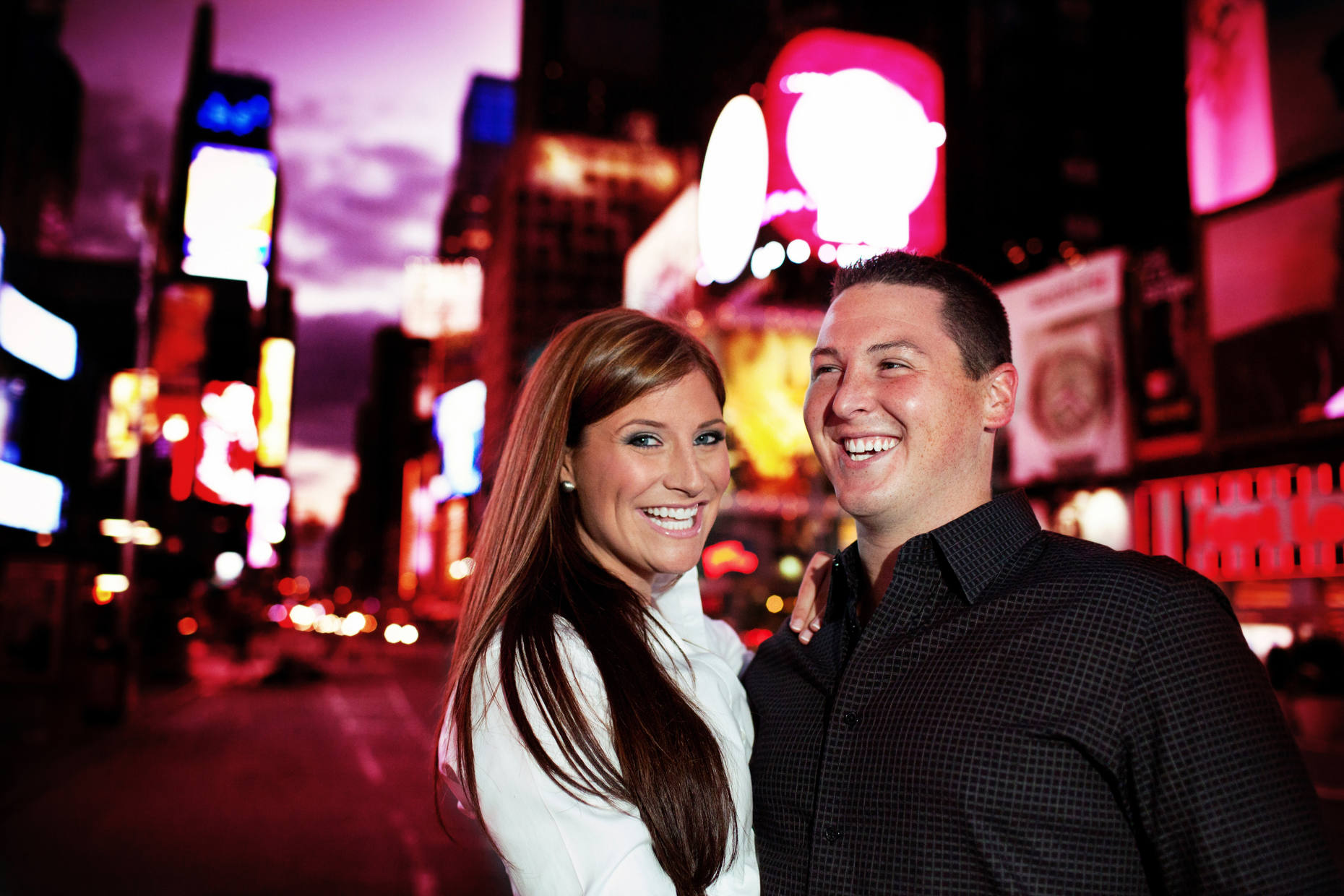 Times Square and The High Line Engagement Shoot-Erin and Mark