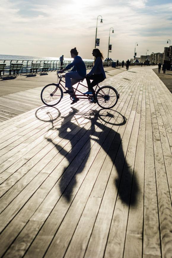 Tandem Bicycle Engagement Shoot Long Beach NY