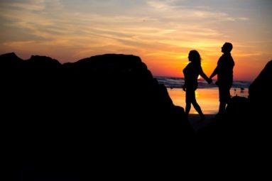 Bride and Groom Beach Sunset