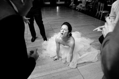 Bride on dance floor having a blast