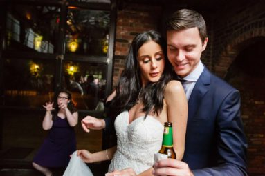 Bride and Groom Dancing at The Foundry Long Island City